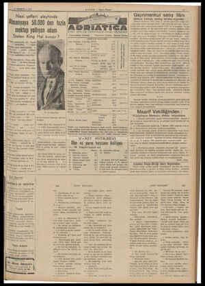 HABER — Akşam Postası Nazi şefleri aleyhinde Gayrimenkul satış ilânı iplere kmniydi sandığı üste mer iz. Almanyaya 50.000 den