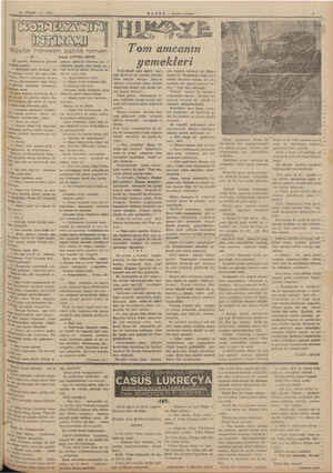 """19 NISAN — 1841 ez"""" ça Tak ayrıldı, Varborova giderek Vizlyeti anlattı: >— Binbaşım, işler yolunda, Sa """"İ geline, körata her"""