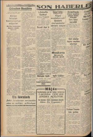 1 BABEN — Aksamkişiitie ARR ABERE ajansının verdiği haber, » bir bakış Anı tera göre dünya variyet Alman fırkaları Kırıma...