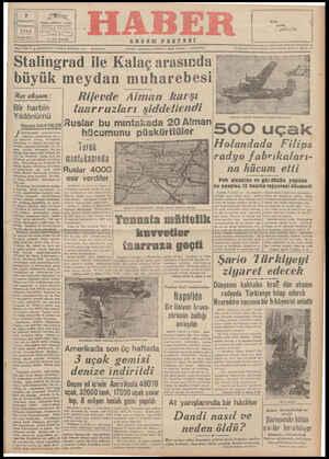 |Stalingrad ile Kalaç arasında ' 5 ;? büyük meydan muharebesıE H0 | çema SN , ı:g*--;?îı; .*' K t en | Rijevde Alman karşı el S — Birharbin | faarriır>lori sisİdetlendi — —