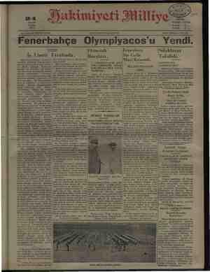 """pe MAYIS PAZAR 1931 Bayık"""" 5... No, 3538: ON İKİNCİ SENE, © ÖĞLEDEN""""SONRA ÇIKAR > HER YERDE 5 KURUŞ F bahçe Olympi 'u Yendi"""