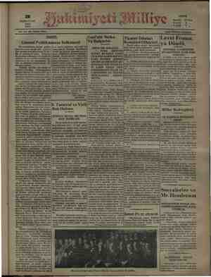 TEŞRİNİSANİ SALI İK e eğ 48 > ABONE ye Senelik Z 2 ğ 6 aylık a 1931 3 NO. 3701 ON İKİNCİ SENE. 17 Lira ayık 5 ,, Gündelik.