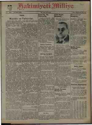 """S4) iye 4 .. Muakiniyei ul 1933 syalist Günülelik Beyin """"Bir Tediye Teadül am Madde ve Tefsirler. Sofya'daki Kon- gresi Dün"""