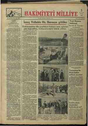 """Gündelik. — BALKANLAR BALKANLILARINDIR. BALKAN MİLLETİ BALKANLILARINDIR. Yugoslavya Kıral ve Kıraliçe- si Hazretlerinin Bulgaristan hü - kümdarlarını ziyaretlerinden bah- seden bir-Çek gazetesi diyor ki: """" İki komşu devlet arasında ger - ginlik artık nihayet bulmuştur. Bü- tün balkan devletleri bir ittihat manzarası gösterirle: İsveç Veliahtı Hz. Bursaya gittiler lli li ğa ea ee el Ünlü konuklar dün gezdikleri Ankara mek Lep.!erini çok beğendiler, terbiyecilerimizi tebrik ettiler. İsveç Veliahtı Prens Güstav Adol Hazretleriyle zevcesi Prenses Luiz ve kerimeleri Prenses İngrit Hazeratı re fakat ve maiyetlerindeki zevat ile dün saat 10 da yüksek Ziraat Enstitülerini gezmişlerdir. Ç Yeni Rumen kabinesi Başvekil M. Tataresko'- nun beyanatı. Bükreş, 4 (A.A.) — Başvekil M. Ta- taresko dün matbuat mümessillerine aşa ğıdaki beyanatta bulunmuştur: -. — Yeni kabineyi eskisinin istifasının ertesi günü hemen teşkil ettim. Bıııı: enaleyh bugün bazı Rııın?ıı ve ecnebi eet aNK"""
