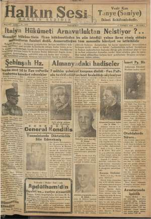 Halkın Sesi Gazetesi 2 Temmuz 1934 kapağı