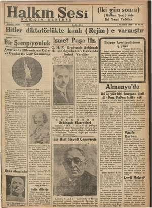 Halkın Sesi Gazetesi 4 Temmuz 1934 kapağı