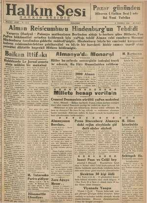 Halkın Sesi Gazetesi 5 Temmuz 1934 kapağı