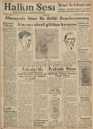 Halkın Sesi Gazetesi 9 Temmuz 1934 kapağı