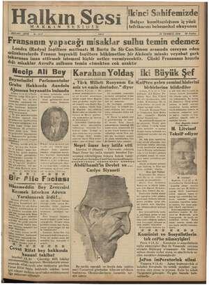 Halkın Sesi Gazetesi 10 Temmuz 1934 kapağı