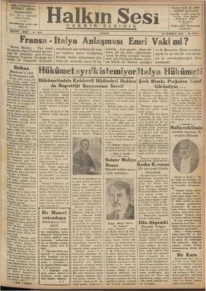 Halkın Sesi Gazetesi 15 Temmuz 1934 kapağı