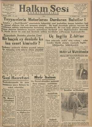 Halkın Sesi Gazetesi 17 Temmuz 1934 kapağı