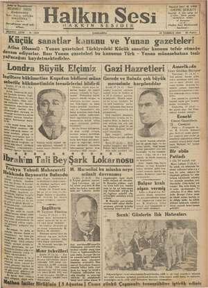 Halkın Sesi Gazetesi 18 Temmuz 1934 kapağı