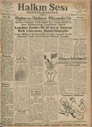 Halkın Sesi Gazetesi 19 Temmuz 1934 kapağı