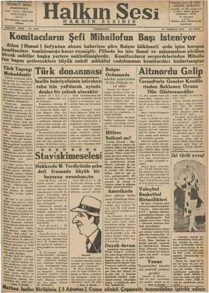 Halkın Sesi Gazetesi 21 Temmuz 1934 kapağı