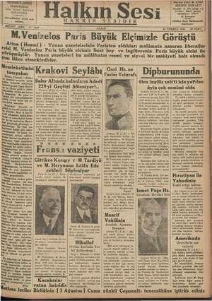 Halkın Sesi Gazetesi 22 Temmuz 1934 kapağı