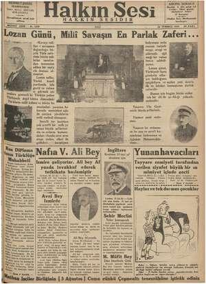Halkın Sesi Gazetesi 24 Temmuz 1934 kapağı