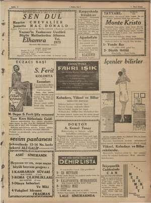 """Sahife 3"""" ( Halkın Sesi ) 5 kkk KUKKAKIK AK 0) 0)x9)x0)x0)06300) (63083103083 0)09)09308, eği 1935 sinema dünyasının en..."""