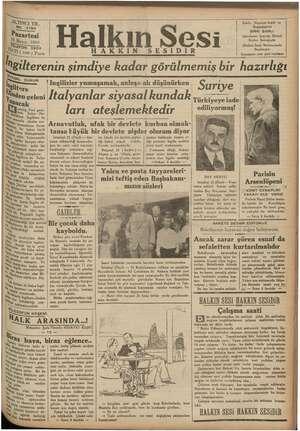 ALTINCI YIL 94 Pazartes âyıs 1936 hi LEFON 3503 ATİ (100 ) Para hgilterenin şimdiye kadar görülmemiş bir hazırlığı Halkın