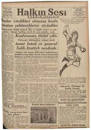 irşat hun 2 Temmuz 193 1936 TELEFON 3503 RAT (100 ) Para Ruslar istedikleri olmazsa konfe 'anstan çekileceklerini...