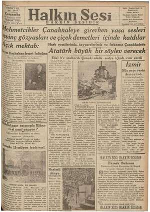 YEDİNCİ YIL | .NO,. 2844 ,Şarşamba | Me 1936 Miri FON 3503 | KATİ (100); Para Açık mektub: Bizim de erdiği siz bakınız. b