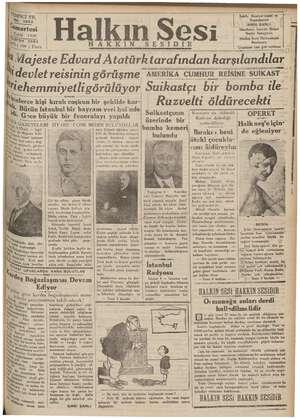 İm YIL İz ©. 2883 çaresi ylâl 1936 ae 1(100 ) Para Miehemmiyetli görülüyor AKKIN SsESİID Halkın Sesi Sahib, Neşriyat Amiri