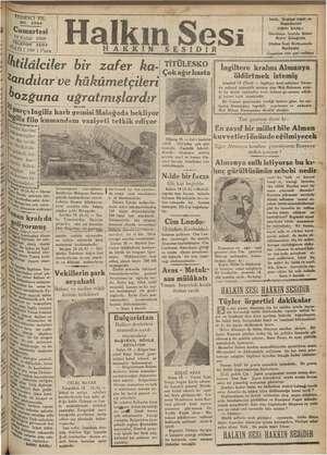 ER - yi Dade a NR ARAR 7 a YEDİNCİ YIL NO. 2894 No. 2894 di Cumartesi > Eylül 1936 BA A b demini Tiğ, tar md abi ln ri â