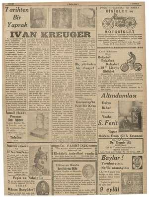   Yaprak 7 arihten Bir BREUG er İsveçte büyük bir gi ya fırsatı- li  imalâiba mesi (o varisi , Bu suretle > idi Çoc:...