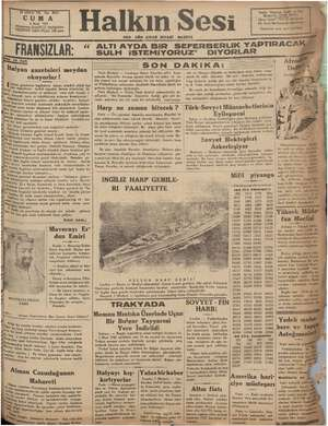- FUNSZLAR GE Kü , ime , ' m Ğ «İ Şalyan gazeteleri Jegilrlerin Alman kömürü yüklü al- hp vapurlar ki etmekte devam ye