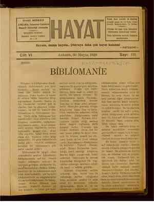 Hayat Dergisi 30 Mayıs 1929 kapağı