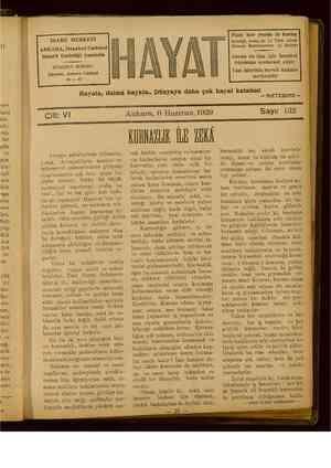 Hayat Dergisi 6 Haziran 1929 kapağı