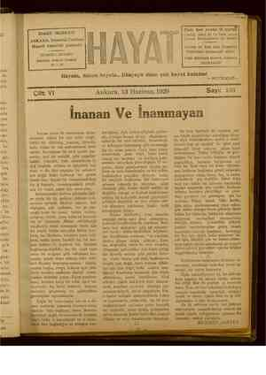 Hayat Dergisi 13 Haziran 1929 kapağı