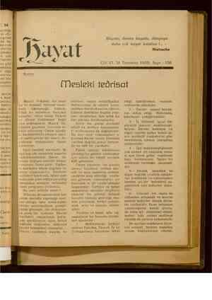 Hayat Dergisi 31 Temmuz 1929 kapağı