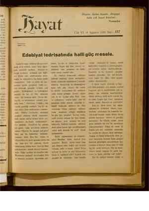 Hayat Dergisi 15 Ağustos 1929 kapağı