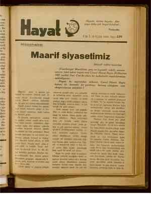 Hayat Dergisi 15 Eylül 1929 kapağı