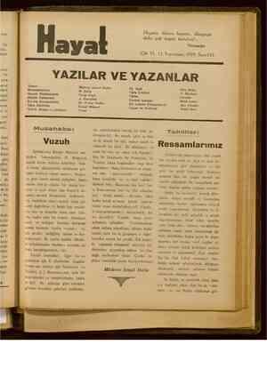 Hayat Dergisi 15 Kasım 1929 kapağı