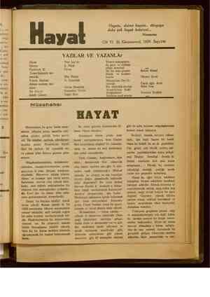 Hayat Dergisi 30 Aralık 1929 kapağı
