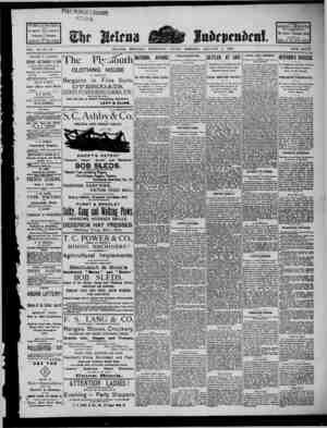 The Helena Independent Gazetesi 4 Ocak 1889 kapağı