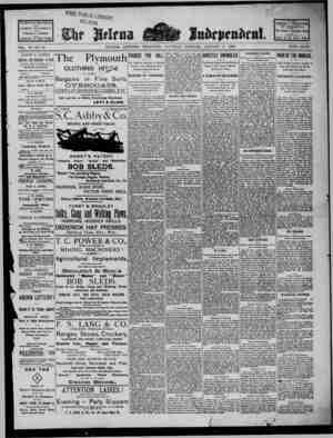 The Helena Independent Gazetesi 5 Ocak 1889 kapağı