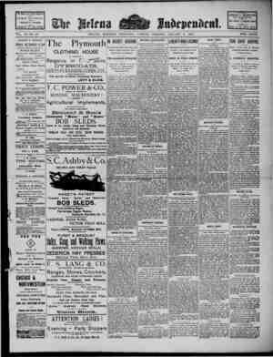 The Helena Independent Gazetesi 8 Ocak 1889 kapağı