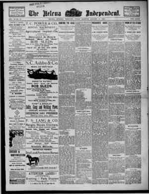 The Helena Independent Gazetesi 11 Ocak 1889 kapağı
