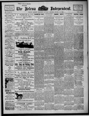 The Helena Independent Gazetesi 12 Ocak 1889 kapağı