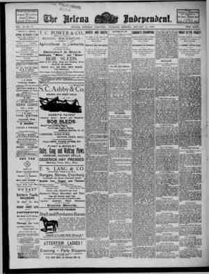 The Helena Independent Gazetesi 17 Ocak 1889 kapağı