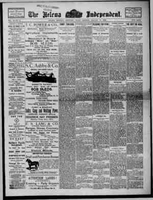 The Helena Independent Gazetesi 18 Ocak 1889 kapağı