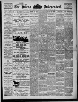 The Helena Independent Gazetesi 19 Ocak 1889 kapağı