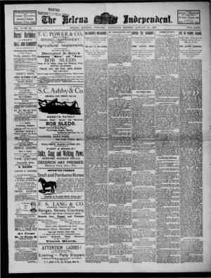 The Helena Independent Gazetesi 23 Ocak 1889 kapağı
