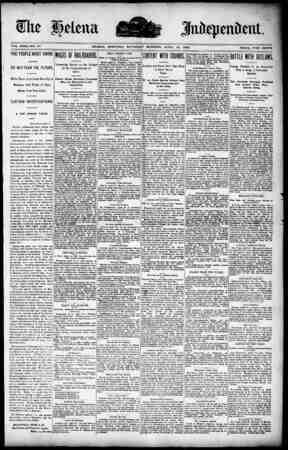 VOL. XXXI.-NO. 81 HELENA, MONTANA. SATURDAY MORNING. APRIL 19, 1890 PRICE, FIVE CENTS .. .. . i . . . . . . . . . . . .. . ..