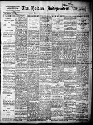 THE DOUBLB-SHEET MIONDAY IINEPENDENT U $2.50 PER YEAR BY MAIL VOL. XXXI--NO 348 HELENA. MONTANA. WEDNESDAY MO ING, DECEMBER