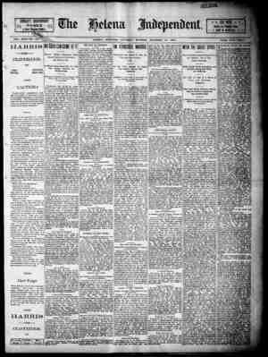 S24PAGES i 2j: . ni n A Great I laber. VOL. XXXI-NO 321 ,.tV~__ HELENA. MONTANA. SATURDAY MORNING, DECEMBER 20, 1890. PRi.p