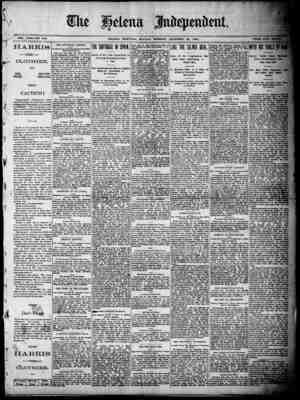 -:kg -17 ffju V L i SVOL. XXXI--NO 330 HELENA, MONTANA. MONDAYM 1N0N, DECEMBER 29, 1890..',, ·- ·; HARRIS -THE- CLOTHIER. ONE