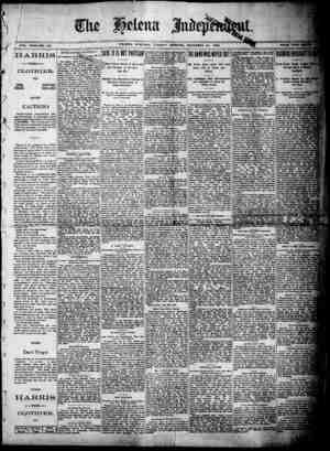 VOL. XXXI-NHELENA, MONTANA. TUESDAY MCiRNiNG, DECEMBER 30, 1890. ' VOL. - -O. ,3....3 ITA.RRIS CLOTHIER. ON8 SQUARE PRICE,